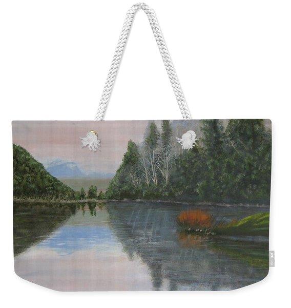 Sarita Lake On Vancouver Island Weekender Tote Bag