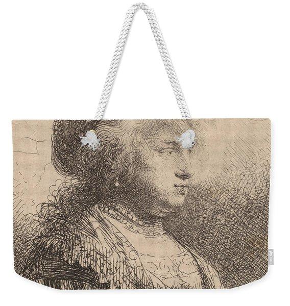 Saskia With Pearls In Her Hair Weekender Tote Bag