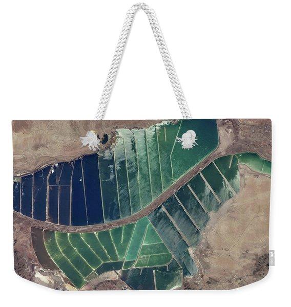 Satellite View Of Salt Evaporation Weekender Tote Bag