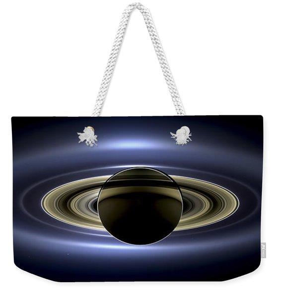 Saturn Mosaic With Earth Weekender Tote Bag