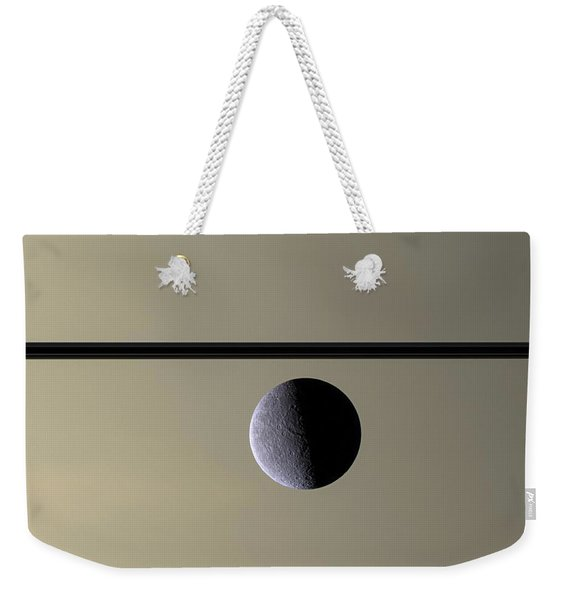 Saturn Rhea Contemporary Abstract Weekender Tote Bag