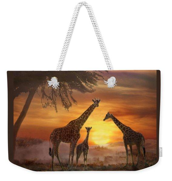 Savanna Sunset Weekender Tote Bag