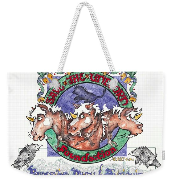 Real Fake News Save The Unicorn Foundation Foto Weekender Tote Bag
