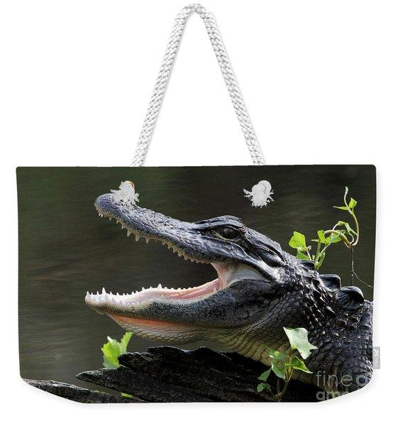 Say Aah - American Alligator Weekender Tote Bag