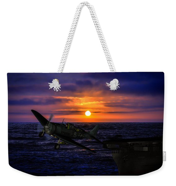 Sbd Launch At Daybreak Weekender Tote Bag