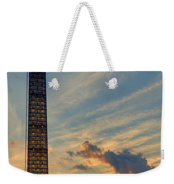 Scaffolding At Sunset Weekender Tote Bag