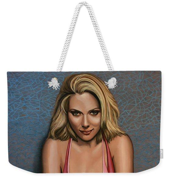 Scarlett Johansson Weekender Tote Bag