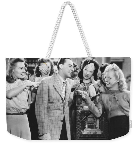 Scene At The Jukebox Weekender Tote Bag