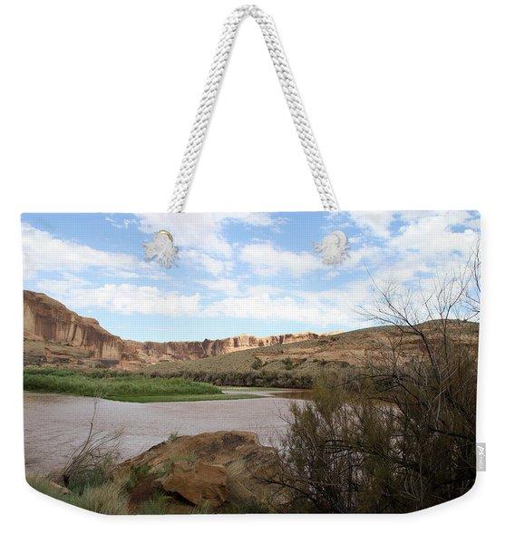 Scenic Upper Colorado River Weekender Tote Bag