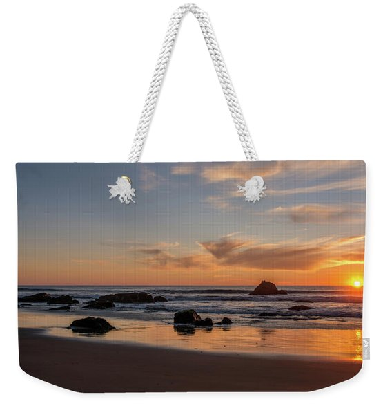 Scenic View Of Beach At Sunset, San Weekender Tote Bag