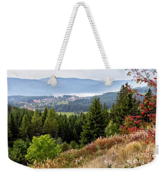 Schluchsee In The Black Forest Weekender Tote Bag