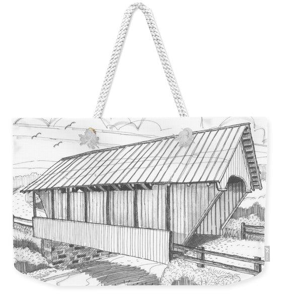 School House Covered Bridge Weekender Tote Bag