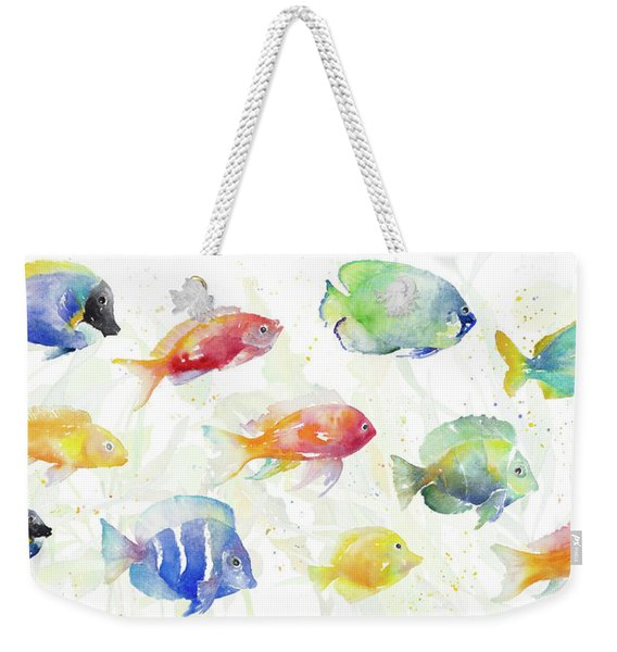 School Of Tropical Fish Weekender Tote Bag