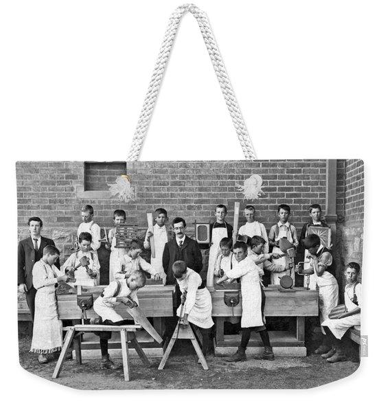 School Woodworking Class Weekender Tote Bag