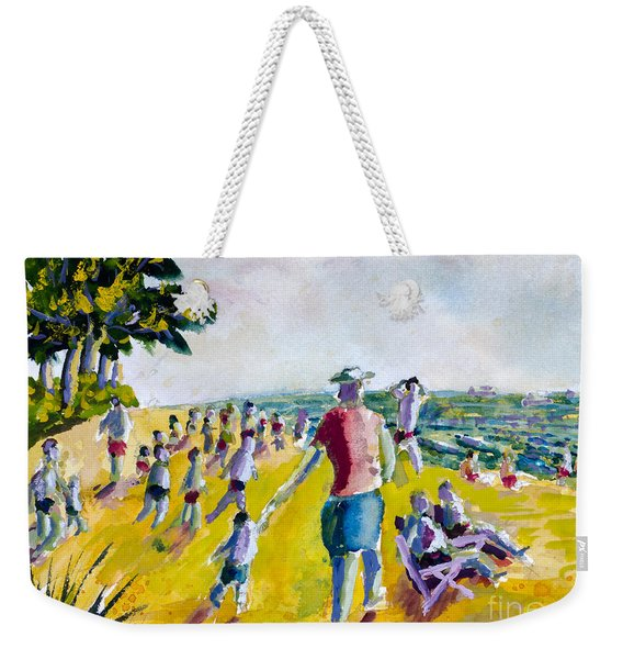 School's Out On The Beach Weekender Tote Bag