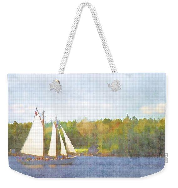 Schooner Castine Harbor Maine Weekender Tote Bag