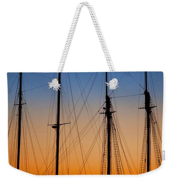 Schooner Masts Martha's Vineyard Weekender Tote Bag