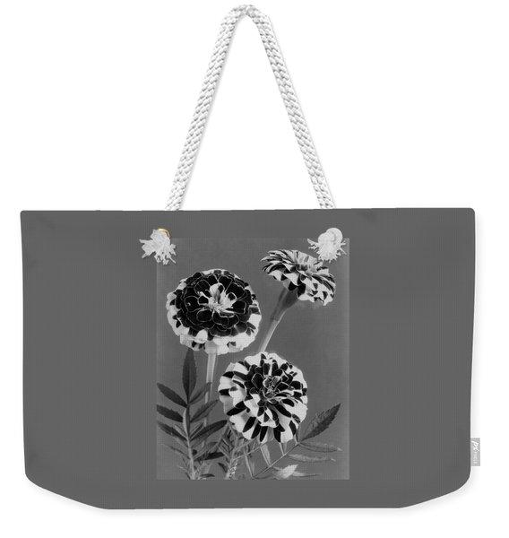 Scotch-stripe Marigolds Weekender Tote Bag