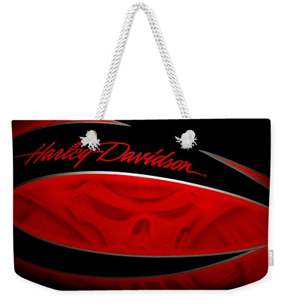 Weekender Tote Bag featuring the photograph Harley Boo by Patti Deters
