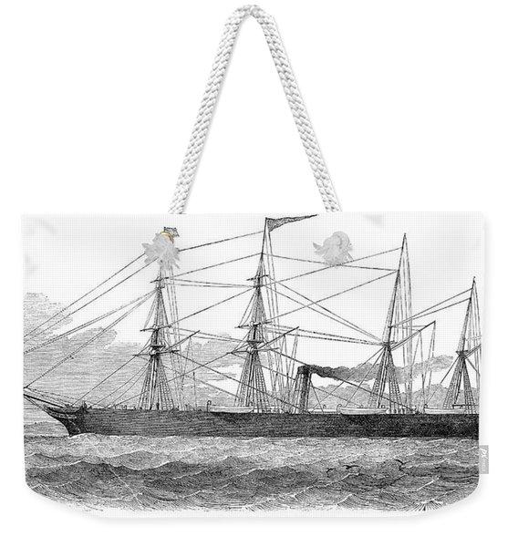 Screw Steamship, 1851 Weekender Tote Bag