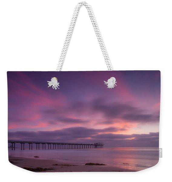 Scripps Pier Colors Weekender Tote Bag
