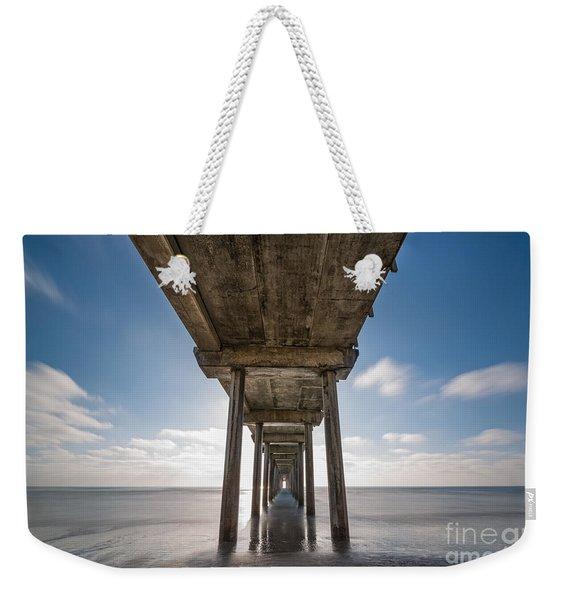 Scripps Pier Long Exposure Weekender Tote Bag