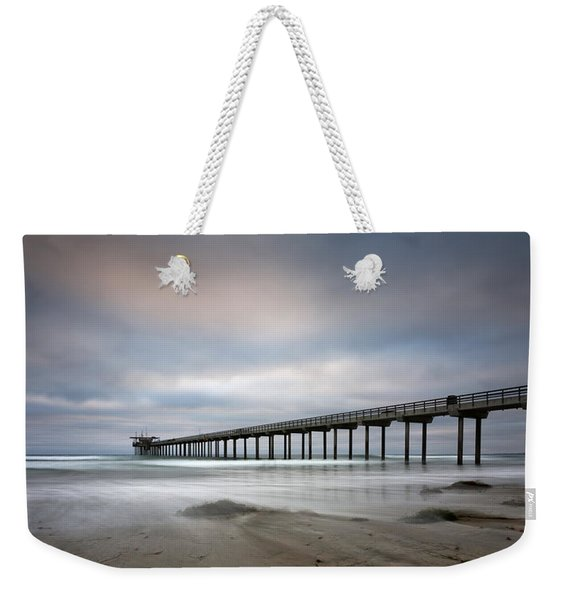 Scripps Pier Wide -lrg Print Weekender Tote Bag