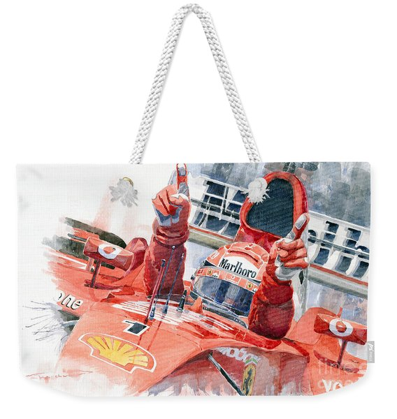 2001 Scuderia Ferrari Marlboro F 2001 Ferrari 050 M Schumacher  Weekender Tote Bag