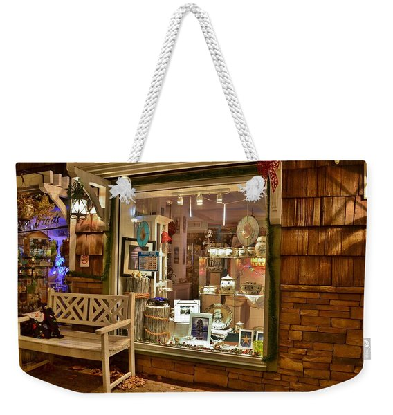 Sea Finds Side Window - Rehoboth Beach Delaware Weekender Tote Bag
