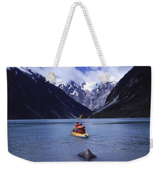 Sea Kayaking On Lago Cachorro Weekender Tote Bag