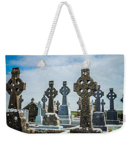 Sea  Of Celtic Crosses Weekender Tote Bag
