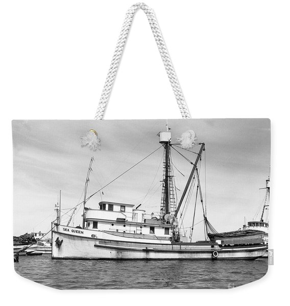 Purse Seiner Sea Queen Monterey Harbor California Fishing Boat Purse Seiner Weekender Tote Bag