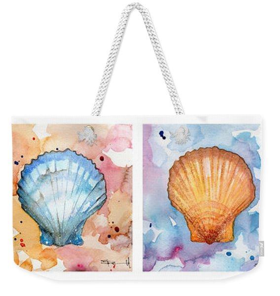 Sea Shells In Contrast Weekender Tote Bag