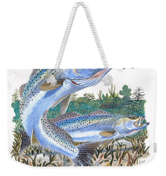 Sea Trout Weekender Tote Bag