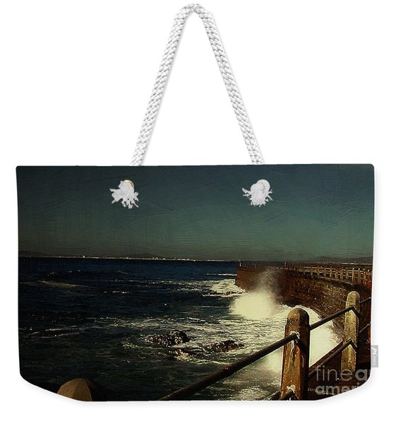 Sea Wall At Night Weekender Tote Bag