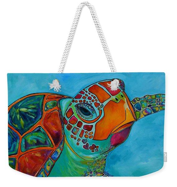 Seaglass Sea Turtle Weekender Tote Bag