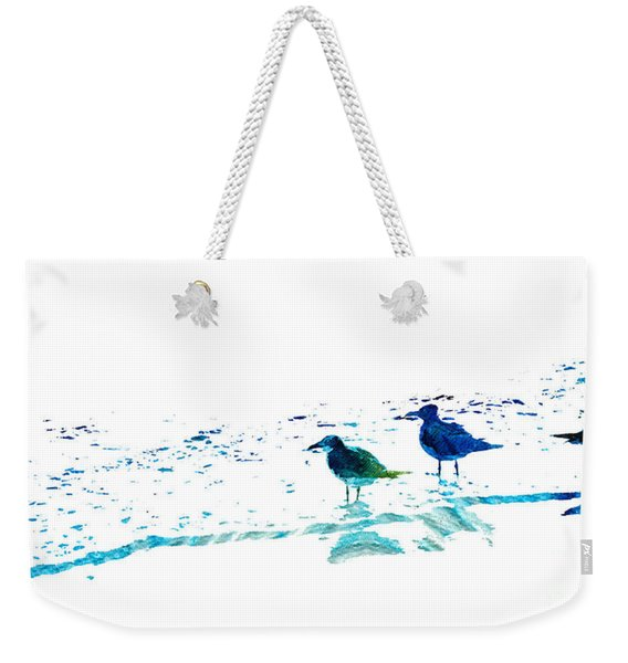 Seagull Art - On The Shore - By Sharon Cummings Weekender Tote Bag
