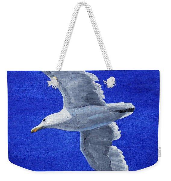 Seagull In Flight Weekender Tote Bag