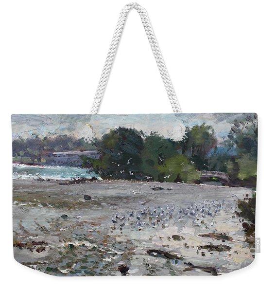 Seagulls On Niagara River Weekender Tote Bag