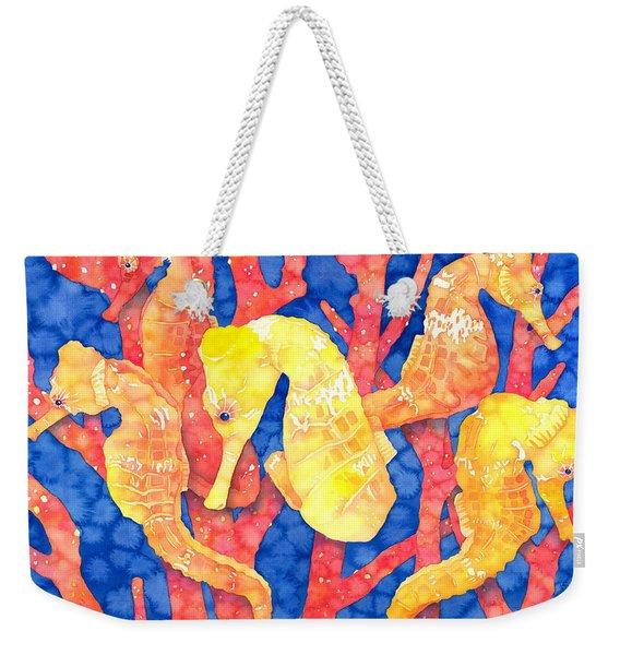 Seahorse Heaven Weekender Tote Bag
