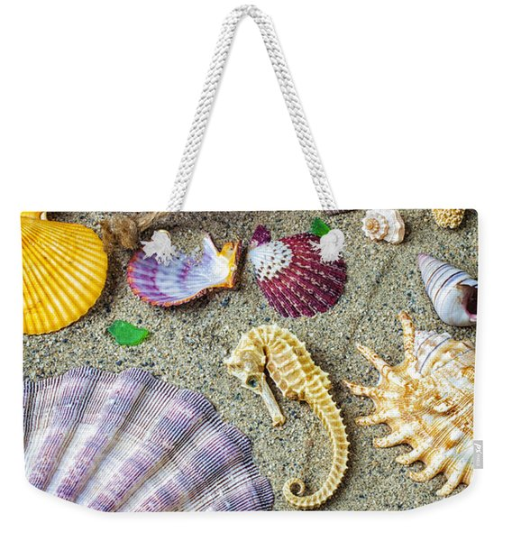Seahorse With Many Sea Shells Weekender Tote Bag