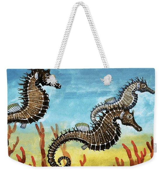 Seahorses Weekender Tote Bag