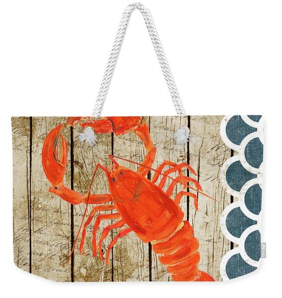 Sealife Lobster Weekender Tote Bag