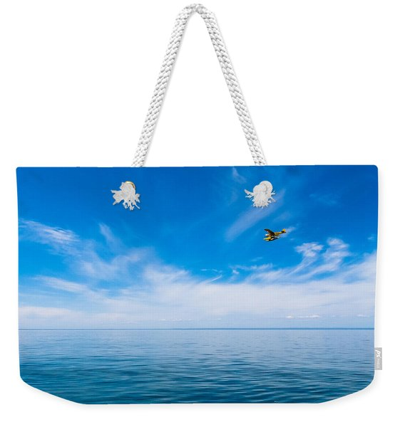 Seaplane Over Lake Superior   Weekender Tote Bag
