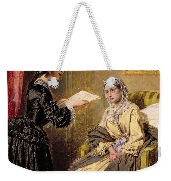 Searching The London Gazette For The List Of The Killed And Wounded Weekender Tote Bag
