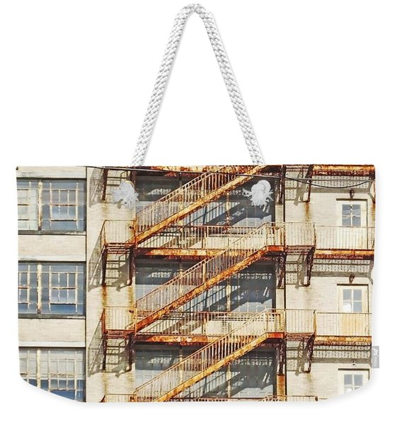 Sears Crosstown Fire Escape Memphis Tn Weekender Tote Bag