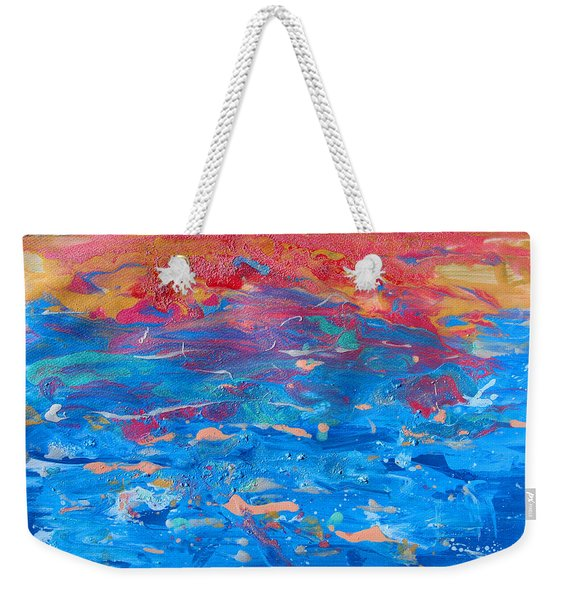 Seascape Abstract Weekender Tote Bag
