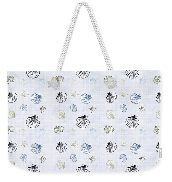 Seashell Pattern Weekender Tote Bag