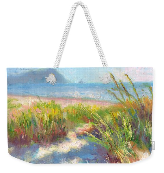 Weekender Tote Bag featuring the painting Seaside Afternoon by Talya Johnson