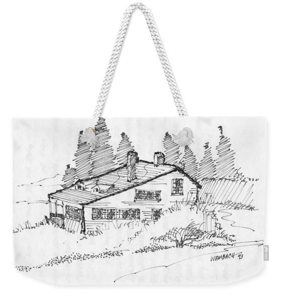 Seaside Cottage Monhegan Island 1993 Weekender Tote Bag